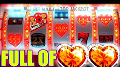 ❤ HEARTS FOR LOVE, ALL WE NEED IS LOVE & A JACKPOT! | MAX BET SLOT PLAY
