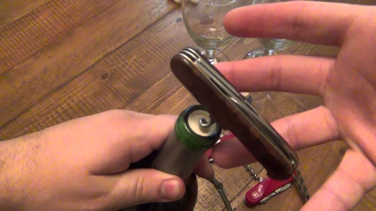How To Use A Corkscrew On A Swiss Army Knife Youtube