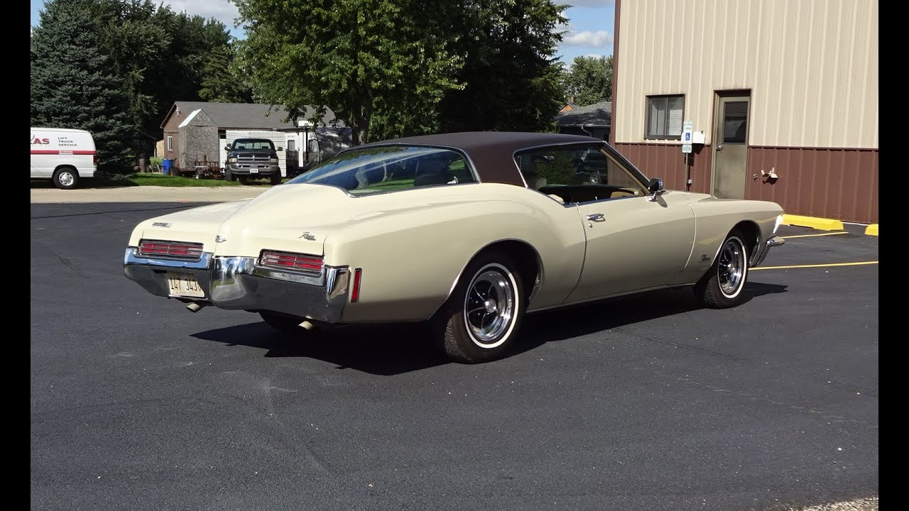 1971 buick riviera in sandpiper beige paint 455 engine sound on my car story with lou. Black Bedroom Furniture Sets. Home Design Ideas