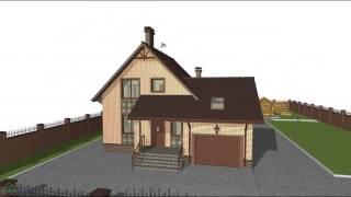 видео проекты домов с мансардой и гаражом