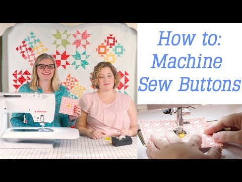 How to Sew Buttons by Sewing Machine