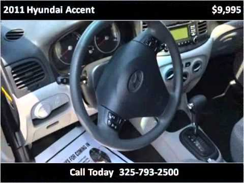 2011 hyundai accent used cars abilene tx youtube. Black Bedroom Furniture Sets. Home Design Ideas