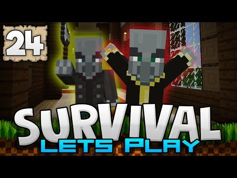 TERROR MANSION! WILL I SURVIVE?!? - Survival Let's Play Ep. 24 - Minecraft 1.2 (PE W10 XB1)