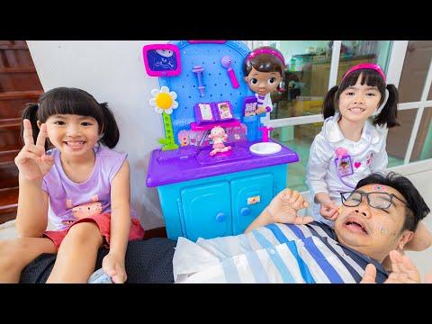 หนูยิ้มหนูแย้ม เล่นละครคุณหมอรักษาตุ๊กตา
