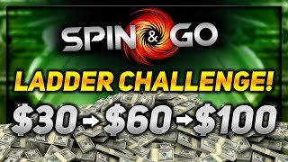 CAN WE REACH THE TOP?! - SPIN & GO LADDER CHALLENGE!! | PokerStaples Stream Highlights