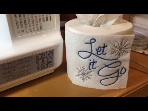 How To Machine Embroider on A Toilet Paper Roll