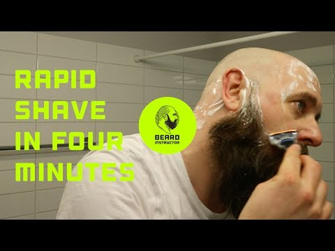 Rapid shave of my head in just 4 minutes | Beard Instructor