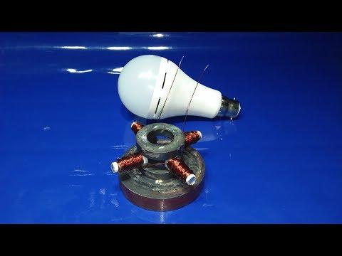 free energy generator light bulb magnet new technology