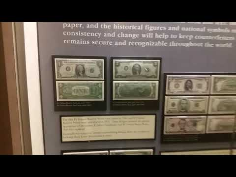 Neat Display of the Differences in US Currency over Time, Bureau of Engraving & Printing