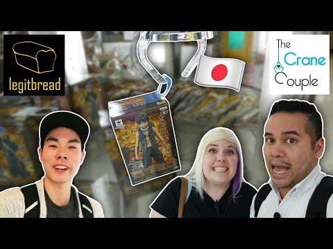 UFO catcher collab in Japan with Legitbread! Pokemon and One Piece claw wins plus unboxing!