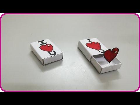 عمل هدية جميلة بعلبة الكبريت - صنع هدايا بعلبة الكبريت - اشغال يدوية