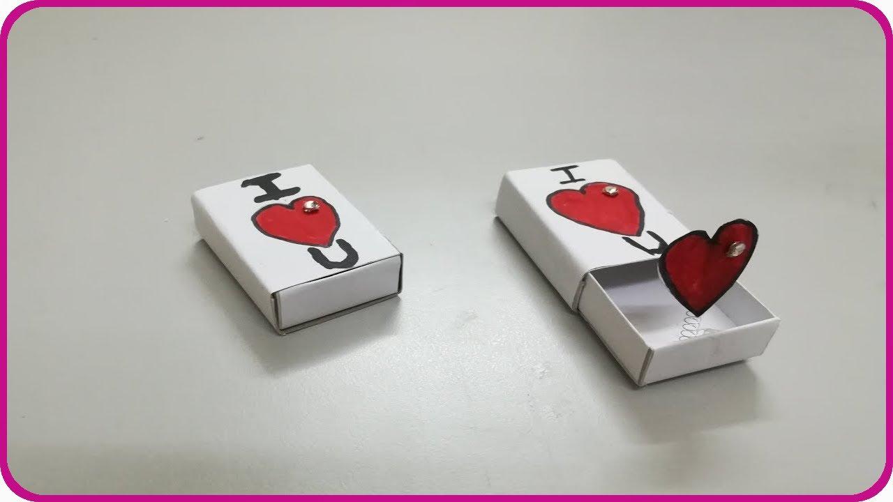 5a05e4e67 عمل هدية جميلة بعلبة الكبريت - صنع هدايا بعلبة الكبريت - اشغال يدوية ...