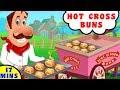 Hot Cross Buns Song | Nursery Rhyme in English by Baby Hazel Nursery Rhyme