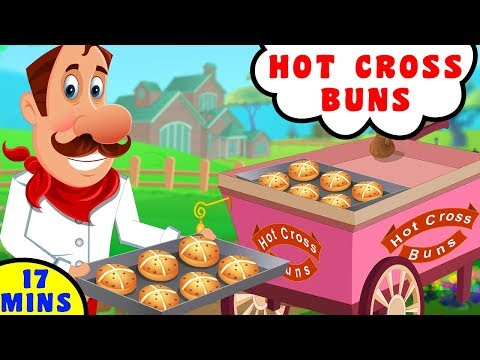 Hot Cross Buns Song   Nursery Rhyme in English by Baby Hazel Nursery Rhyme