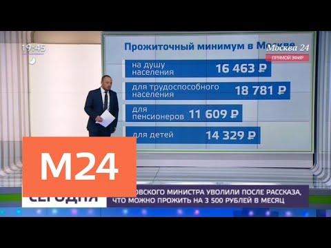 Смотреть Саратовский министр уволена после слов о возможности прожить на 3,5 тыс. рублей в месяц - Москва 24 онлайн