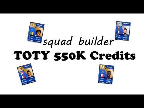 FIFA 13 Ultimate Team: SQUAD BUILDER TOTS 550K - (Feat.MANGALA, GONALONS,...)