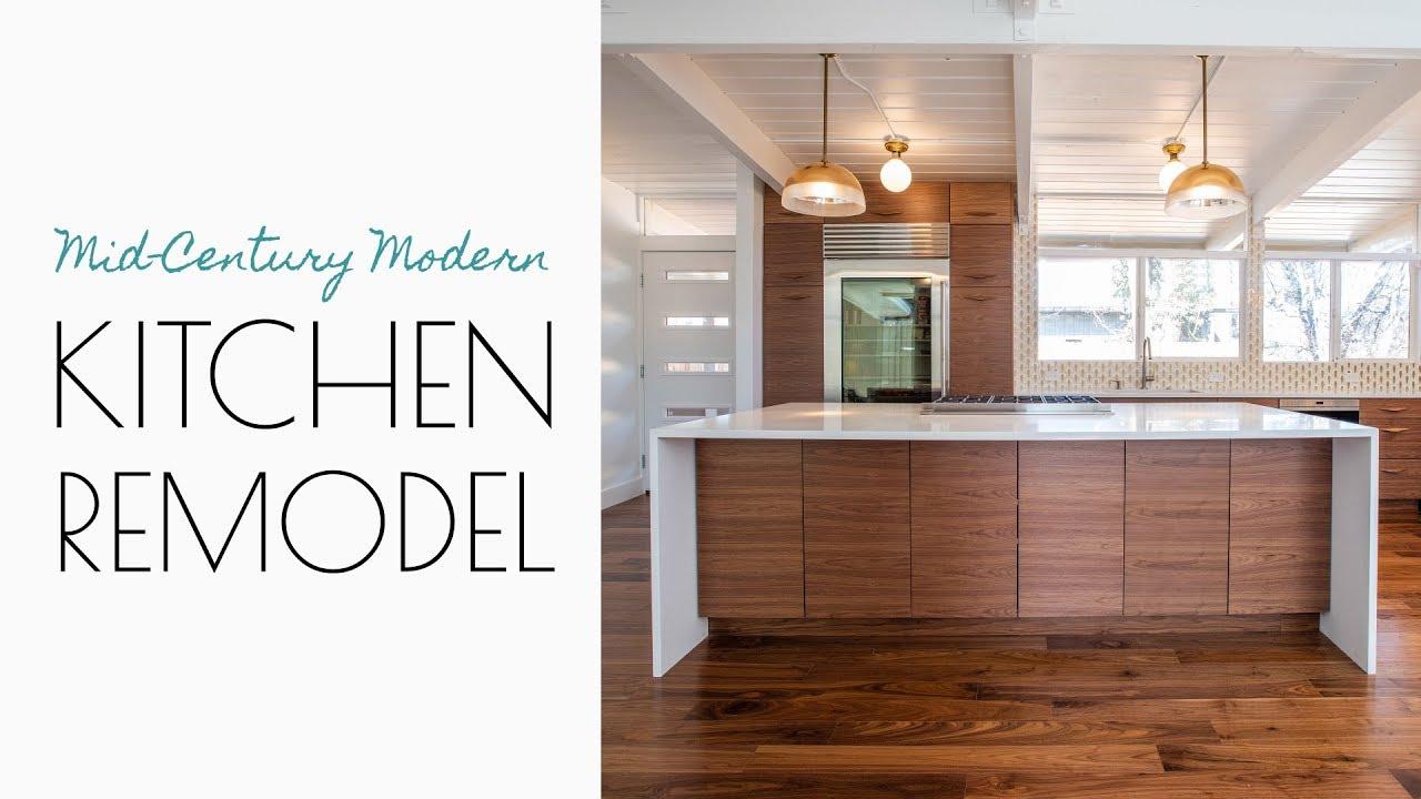 A Mid Century Modern Kitchen Youtube