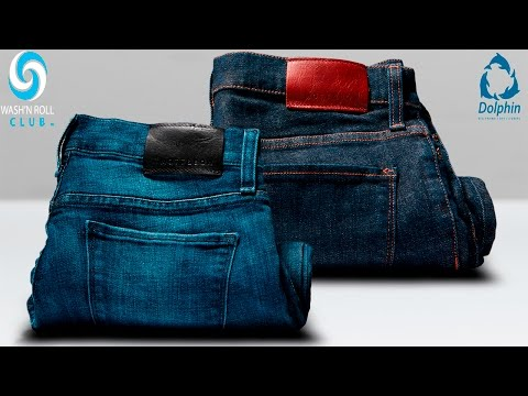 Dolphin Dry Cleaners Wash 'N Roll: How to Roll / Fold Jeans - Folding Clothes for Travel