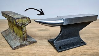 I turn a Railroad Track into an Anvil! Simple & Easy DIY - Homemade Anvil
