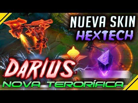 DARIUS Nova Terrorífica - Nueva SKIN ARTESANÍA HEXTECH | Noticias League Of Legends LOL