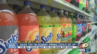 Proposed bill would impose 2 cents-per-fluid-ounce tax on sugar-sweetened drinks