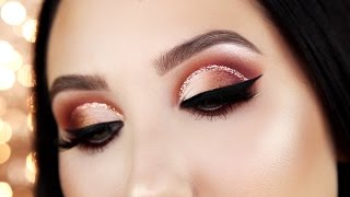 Warm Glitter Cut Crease Tutorial | Jaclyn Hill