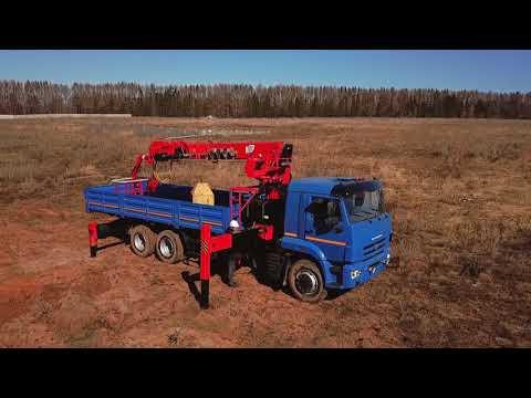 Камаз 65117 с БКУ Dintek LS2056. Бурильно-крановая установка Dintek