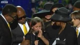 Michael Jackson's daughter Paris Speaks at Memorial. One of the saddest things ever