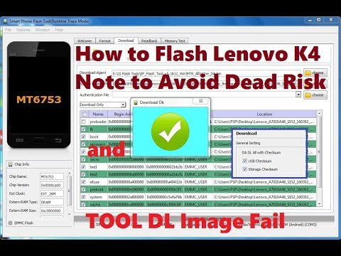 How to Flash Lenovo K4 Note (A7010A48) to Avoid Dead Risk and Tool DL Image  Fail Error