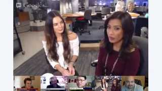 MyFOXLA Google+ Hangout: Gabrielle Anwar Talks Burn Notice