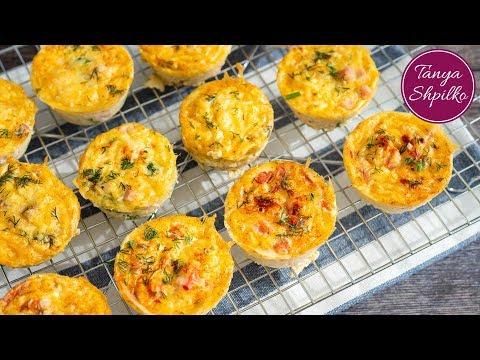 Яичные Маффины с Разной Начинкой - Кексы- Омлет в Духовке | Egg Muffins | Tanya Shpilko