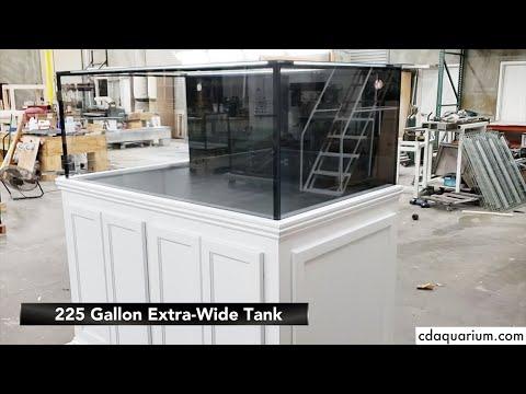 CDA 225 Gallon Aquarium With Modular Marine Overflow & Steel Malibu Stand