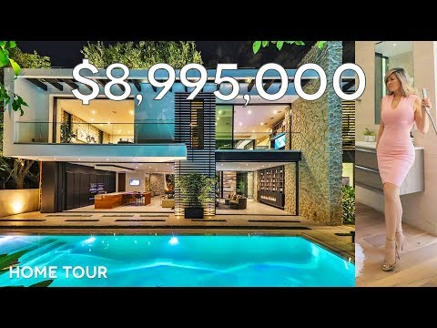 INSANE $8,995,000 TROPICAL MANSION | Hollywood Hills