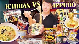 CH RAN Vs.  PPUDO  Nstant Noodles JAPANESE SUPERMARKET  Nstant Noodle Taste Test