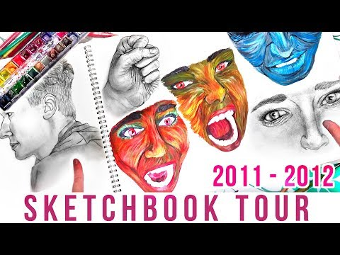 Old School Art SKETCHBOOK TOUR!