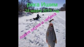 Рыбалка на реке Ишим. 24 марта 2019 год