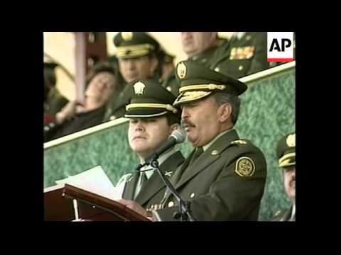 COLOMBIA: NATIONAL POLICE FORCE: CEREMONY