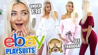 TRYING ON PLAYSUITS I BOUGHT ON EBAY UNDER £10!