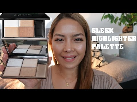 REVIEW+TRY ON| SLEEK MAKEUP- Precious Metals Highlighting Palette |Emmas VeeLOG