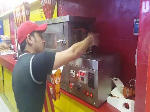 hommy pizza cone machine in Turkey, pizza cone machine in Turish shop