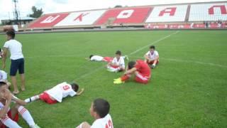 Слезы поражения юных футболистов