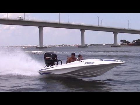 My friend Doug and his Action Marine go fast boat.