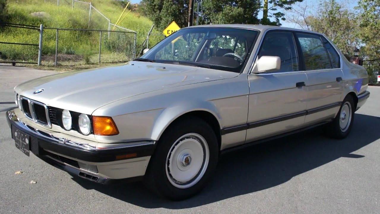 1989 BMW 750IL V12 12 Cylinder S600 1 Owner 128k orig mi - YouTube