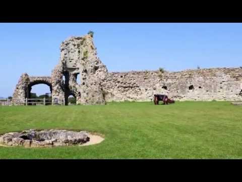 Pevensey Castle East Sussex 1066 July 2014. 1080HD