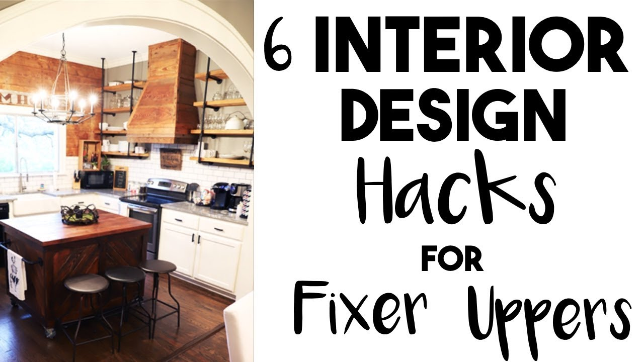 INTERIOR DESIGN: 5 Huge DESIGN HACKS I learned in a FIXER UPPER! YouTube - House Hacks Princess Pinky Girl