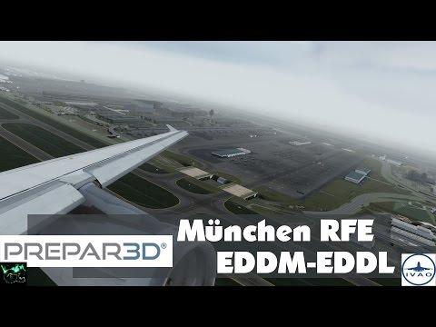 P3D #42 | DLH4UT EDDM-EDDL | München RFE | AS A321 | Flug 11 Teil 2/3 | IVAO [HD|German]