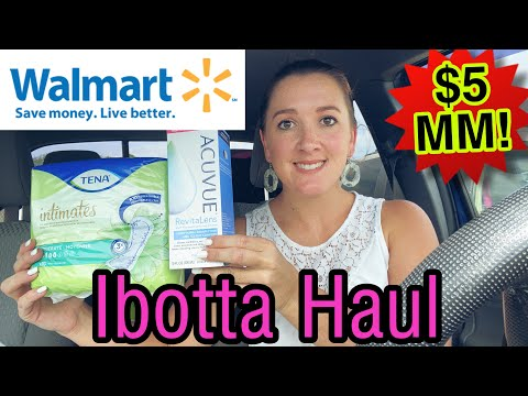 Walmart Ibotta Haul I $86 Of Products For FREE + $5 MM! I Seeing Green $10 Bonus! I