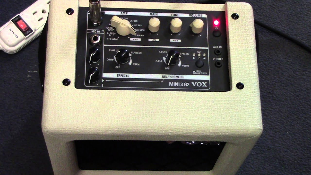 vox mini3 g2 battery powered amp demo youtube. Black Bedroom Furniture Sets. Home Design Ideas