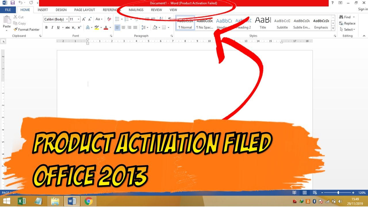 Cara Menghilangkan Product Activation Failed Microsoft Office 2013