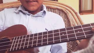 Looking out back door on ukulele by Benjamin das
